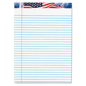 Tops American Pride Writing Pad Legal wide 8 1 2 X 11 3 4 White 50 Sheets Dozen