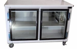 2 door Stainless Steel Back Bar Beverage Cooler 48