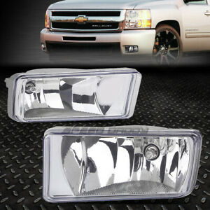 For 07 15 Chevy Silverado Tahoe Suburban Clear Lens Oe Bumper Driving Fog Light