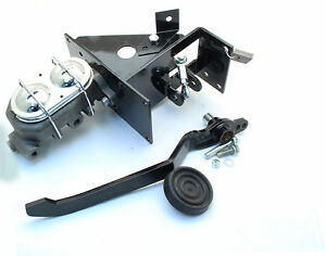 Universal 90 Degree Under Dash Manual Brake Pedal Master Cylinder Kit