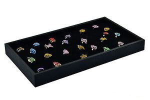 New 5 Plastic 72 Slot Velvet Ring Insert Jewelry Display Tray Holder Case