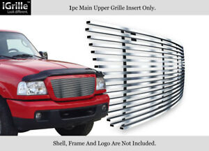 Fits 2006 2012 Ford Ranger Stainless Steel Billet Grille Grill Insert