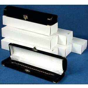 New 12 Bracelet Watch Brass Corner Jewelry Gift Box Black