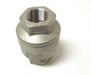 In line Spring Check Valve 3 4 Npt 316 Stainless Steel 750 Cwp 1 Psi