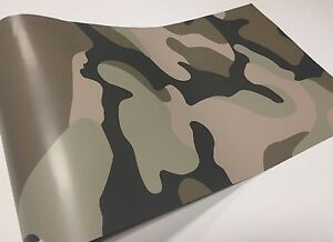 Camouflage Camo Desert Sand Vinyl Graphic Printed Car Wrap Film Sticker Decal