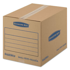 Bankers Box Smoothmove Basic Small Moving Boxes 16l X 12w X 12h Kraft blue 25 bd