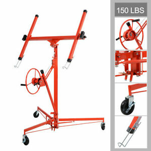 11 Drywall Lift Panel Hoist Dry Wall Jack Rolling Caster Lifter Lockable New