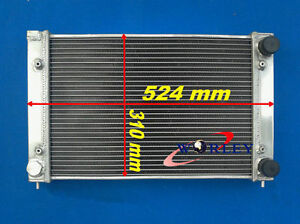 2 Core Aluminum Radiator For Vw Golf Gti jetta Mk2 corrado scirocco Coupe 1 8v