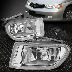 For 99 04 Honda Odyssey Clear Lens Front Bumper Driving Fog Light Lamp W switch