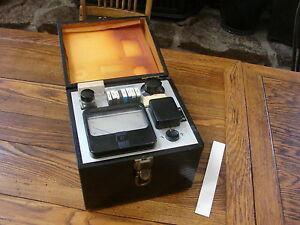Hach 9 25 25 Wooden Box Portable Spectrophotometer Dr 2420 B Vgc