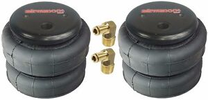 Air Bags Two 2500 Lb With 1 2 Hose Elbow For Truck Tow Kit Air Ride Suspension