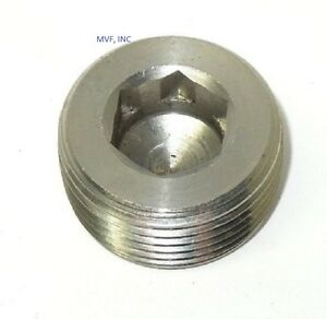 2 304 Stainless Steel Bar Stock Threaded Counter Sunk Hex Plug