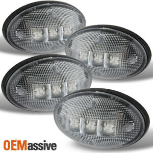 Fits 99 10 Ford F250 F350 F450 Superduty Dually Clear Fender Marker Led Lights
