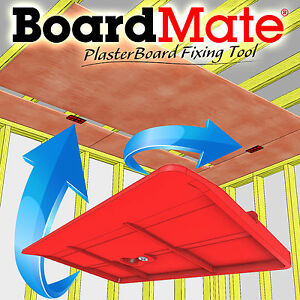 Boardmate Drywall Fitting Tool Supports The Board In Place While Installing