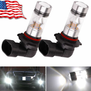 2x 9005 Hb3 6000k 100w 2323 Led Projector Drl Driving Light Bulbs White