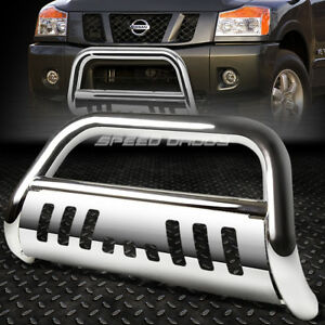 For 05 16 Nissan Frontier Pathfinder Chrome Bull Bar Push Bumper Grille Guard
