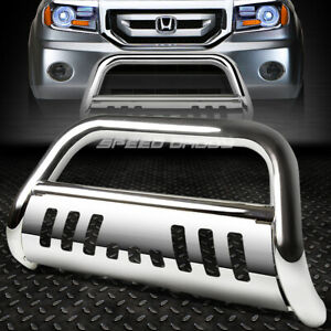 For 03 08 Honda Pilot 06 14 Ridgeline Chrome Bull Bar Push Bumper Grille Guard