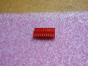 Amp Feed Tru Wo Tab 10pos Red Tin 22 Awg Connector 1 640620 0 Lot Of 453 Pc