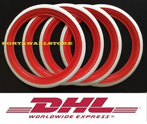 Atlas 14 Red White Wall Portawall Tyre Insert Trim Set 4 Pcs Free Shipping Dhl