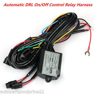 Car Led Daytime Running Light Drl Relay Harness Auto Control On Off Switch Kit