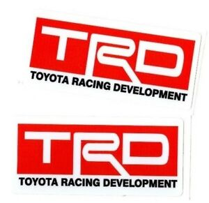 Toyota Racing Development Trd Decals Japan Car Truck Window Sticker Domo Jdm