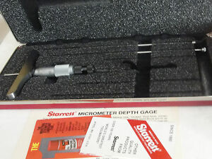 Starrett 445bz 3rl Vernier Depth Gauge Ratchet Stop Lock Nut