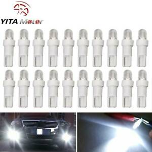 20x Pure White T5 1 Smd Led Dashboard Instrument Panel Light Bulbs 17 73 74