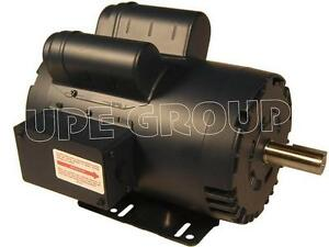 Leeson Heavy Duty 5 Hp 20 8a Electric Motor For Compressor 3600 145t 7 8 120554