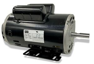 5 Hp Spl 1ph Air Compressor Electric Motor 56 Frame 5 8 Shaft 3450 Rpm 16amp