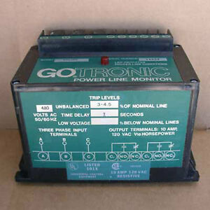 New Gotronic 585109 Power Line Monitor 480v
