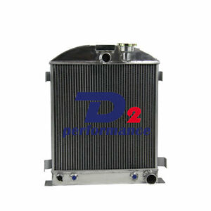 3 Row Radiator For Chevy Engine Ford Grill Shells 3 Chopped 39 40 1939 1940