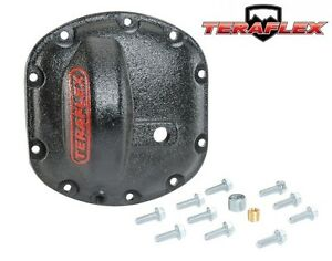 Teraflex Heavy Duty Front Differential Cover Kit Black For Jeep Dana 30