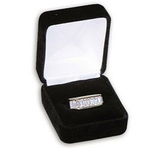 New 48 Pcs Black Velvet Ring Jewelry Display Gift Boxes