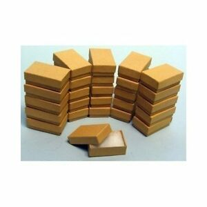 100 Kraft Cotton Filled Jewelry Craft Bracelet Earring Chain Gift Boxes 3 1 4