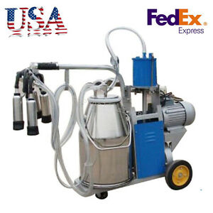 Best Electric Milking Machine For Farm Cows Bucket 2plug 25l 304 Stainless Steel