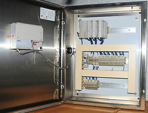 Stainless Steel Control Cabinet With Idec Plc System Opennet With Hmi Screen