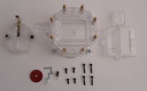 Hei Distributor Cap Coil Cover Rotor Clear Gm Chevy Pontiac Oldsmobile Ford