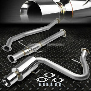 Dual 4 Rolled Tip Muffler Catback Exhaust System For 05 10 Scion Tc Vvti 2az
