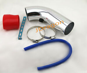 Universal 3 Aluminum Chrome Cold Air Intake Intercooler Piping Cold Hot Pipe