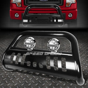 Black Bull Bar Grille Guard Chrome Fog Light For 08 10 Ford F250 F550 Superduty