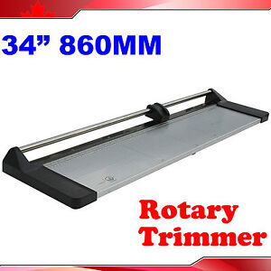 Brand New 34 860mm Manual Rotary Photo Paper Cutter Portable Trimmer 1 Blade