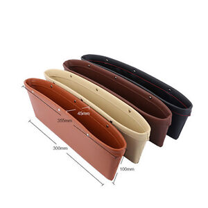 Car Auto Vehicle Seat Slit Leather Storage Box Bag Catcher Pocket Organizer