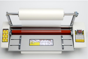 17 5 A2 Roll Laminator Four Roller Hot Cold Laminating Machine For 442mm Paper