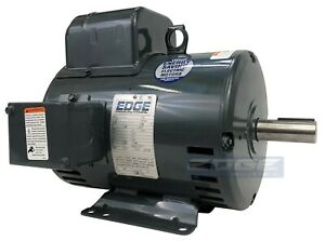 5 Hp Leeson Compressor Duty Electric Motor Replaces 131537 Baldor L1430t