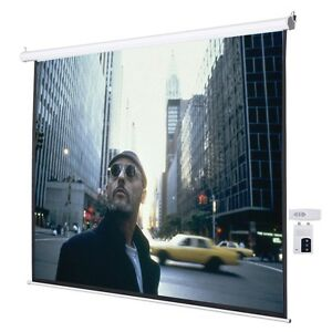 Us Pro 120 4 3 Electric Auto Projector Projection Screen 96 x72 Remote Control