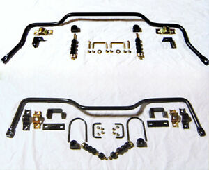 1955 1956 1957 Chevy Car Bel Air Nomad Front Rear Sway Bar Bars W Linkage Kit
