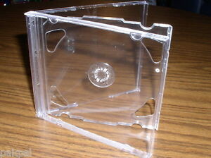 200 New Double Cd Jewel Cases With Clear Tray