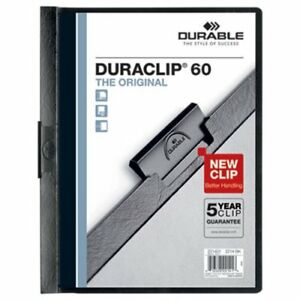 Durable Vinyl Duraclip Report Cover Letter Clear black 25 Covers dbl221401