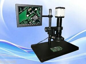 Digital Industrial Inspection Zoom Video Microscope Usb vga Output ccd Camera 8
