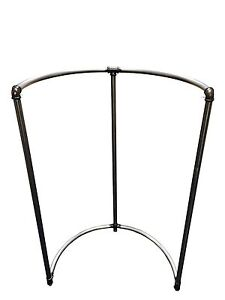 Wall Mount Half round Bar Pipe style Pipeline Rack In Clear Metal Finish